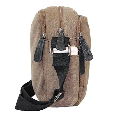 Gloop Top Fashion Sterne Handtasche Schultasche Canvas KunstLeder Trend Tragetasche TS201701 23106 Grau