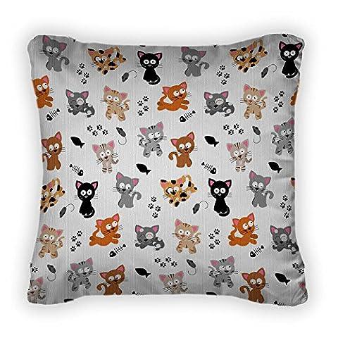 Gear New E Cat Themed Throw Pillow,