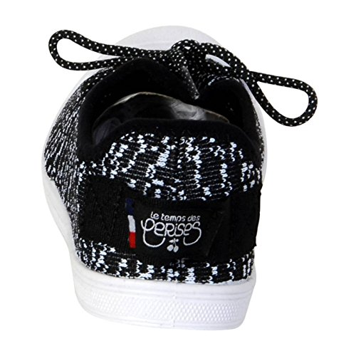 Schuhe-Le Temps des Cerises Basic 02 White Lucky Noir