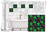 Fliesenaufkleber Fliesenbild Fliesen Aufkleber Mosaik Grün Kachel Bad WC Küche Deko Kachel Badezimmer, 8 Stück, 15x15cm