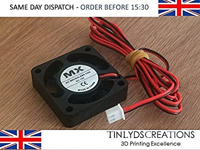 12v DC Brushless Extruder Fan 4010 fan comes with 1 metre cable- 9 blades - 9000rpm …