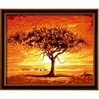 Diy oil painting, paint by number kits- Asaka life 16*20 inches.
