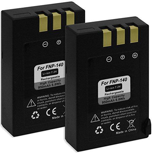 2x Akku NP-140 für Fuji Fujifilm FinePix S100fs, S200EXR, S205EXR