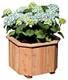 Gartenpirat Pflanzkasten Blumenkasten Aktion aus Lärchen-Holz 8-eckig 40x40x30 cm