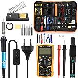 GBlife 60W 220V Saldatore Elettrico Stagno Professionale Kit 23 in 1 di Saldatura con Valigetta per Trasporto Saldatore Temperatura Regolabile per Precisione Saldatura