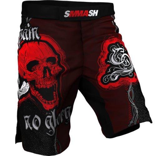 Spodenki MMA SMMASH SKULL RED (M)