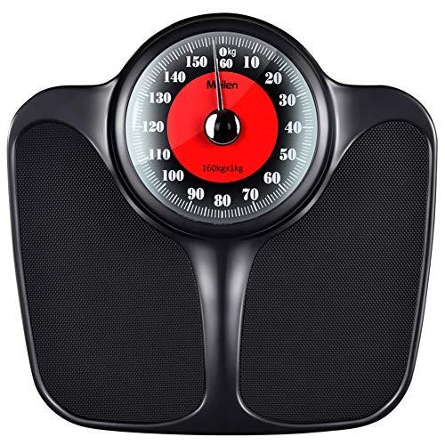 Escaparate: espejo acrílicoRango de pesaje: 1Kg-160Kg.Peso neto: 3,65 kgTamaño del producto: 285 * 425 * 85 mmMaterial del cuerpo: placa de acero + ABSNota: La escala mecánica es operada por inducción de resorte. A diferencia de la escala de peso ord...
