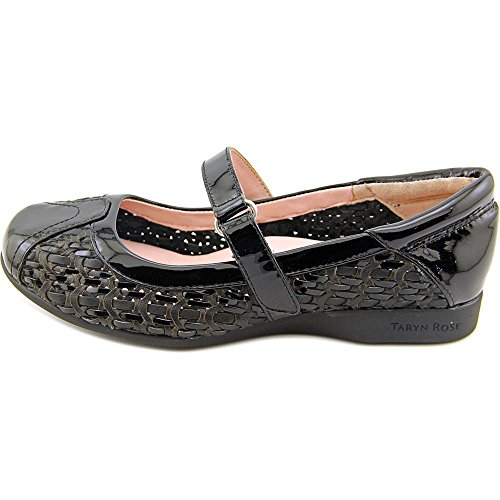 Taryn Rose True Cuir verni Mary Janes Black
