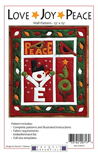 Rachel 's of Greenfield rp0717 Love Joy Peace Wand Quilt Muster, keine -