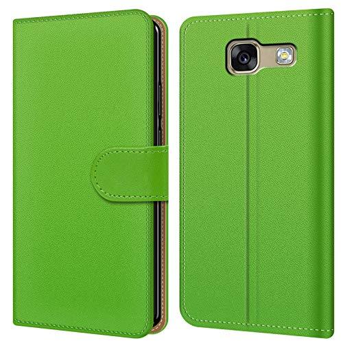 Conie BW28225 Basic Wallet Kompatibel mit Samsung Galaxy A3 2017 (A320), Booklet PU Leder Hülle Tasche mit Kartenfächer und Aufstellfunktion für Galaxy A3 2017 (A320) Case Grün