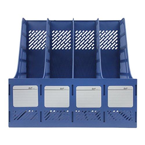 Stehsammler Desktop Zeitschriftensammler 4 Abschnitte Plastik Stehordner Office Papier Dokumente Prospekthalter Aktenhalter Büro Schreibtisch Organizer