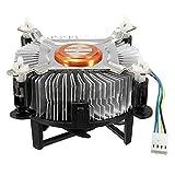 ClookYoon Ventilateur de refroidissement du processeur d'unité Centrale en Aluminium de Haute qualité pour PC, ventilateur de refroidissement silencieux et silencieux pour 775/1155/1156