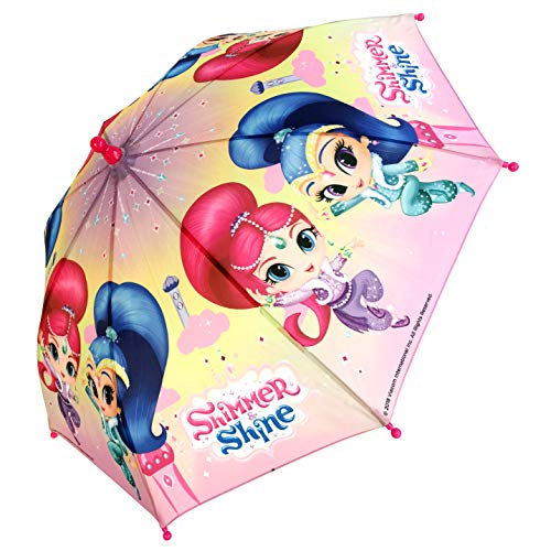 Chanos Chanos Shimmer & Shine Safety Runner Polyester Taslon Folding Umbrella, 38 cm, Pink and Blue Parapluie Pliant, Rose (Pink Blue)