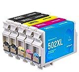 Ziprint 5 Multipack Compatible Epson 502XL Epson C13T02W14010 C13T02W24010...