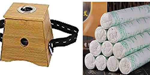 U & Wir Moxa Rolle Brenner NEU Box Single Halter Moxibustion + 30Stück Moxa Rolle (30 Traditionelle Post)