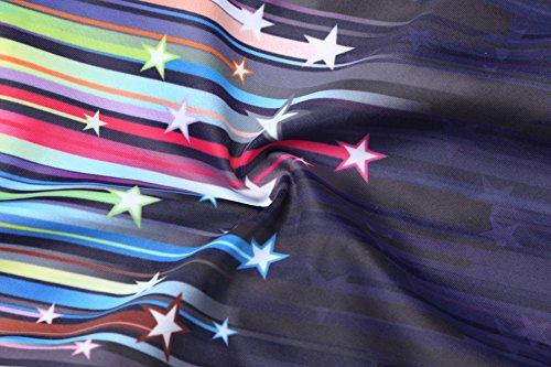 Hysenm Fille Maillot de Bain 1 Pièce Compétition Hydrodynamisme Ultra Élastique étoile ciel