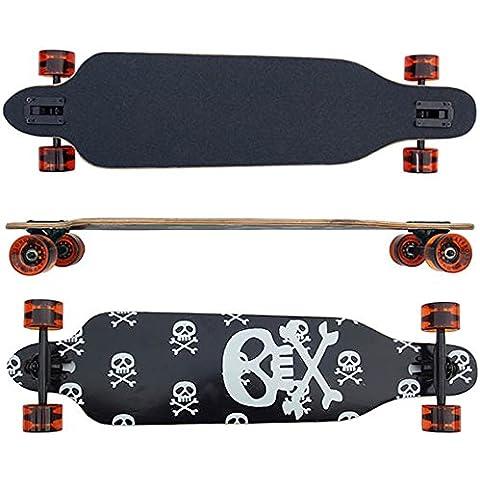 Longboard con cuscinetti Sklette 99cm/39inch in nero cuscinetti Abec 9cuscinetti in legno d' acero 9gotico Canada Nuovo & confezione originale