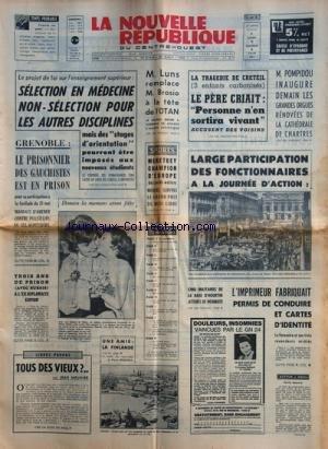 NOUVELLE REPUBLIQUE (LA) [No 8123] du 05/06/1971 -...