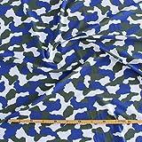 kawenSTOFFE Jerseystoff Trikot Camouflage Tarndruck Blau
