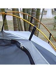 10x Plástico Negro Clips Carpa Toldo Acampar C Para Postes De 10mm-13mm