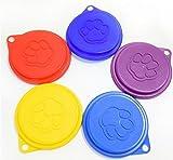 yter 23in 1Pet Cat Dog Pet für Lebensmittel Aufbewahrung Schale kann Cover mit Pfotenabdruck (zufällige Farbe)