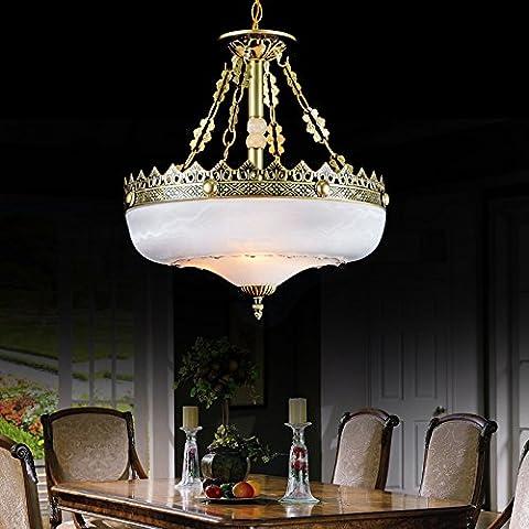 FUMIMID Lámpara de cristal de araña de estilo europeo antiguo redondo restaurante creativo de forja creativa cabeza sola lámpara pequeña iluminación 450 * 450