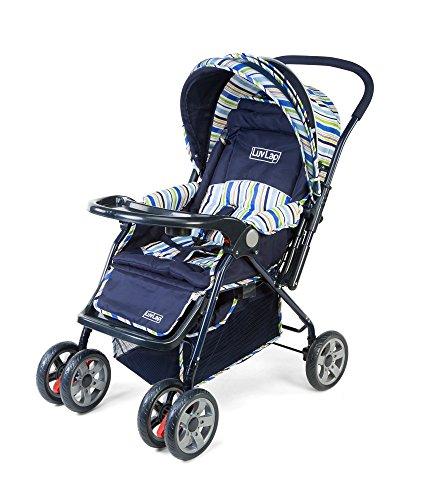 LuvLap 18102/1002A Baby Stroller Comfy (Navy Blue)