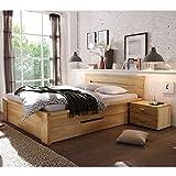 Pharao24 Bett mit Schubladen Kernbuche Massivholz Breite 170 cm Ohne Liegefläche 160x200