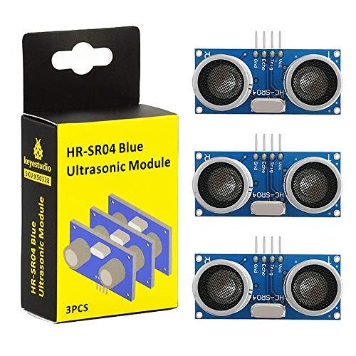 KEYESTUDIO 3pcs Sensor Ultrasonidos, HC-SR04 Kits de Sensores de Distancia  por Ultrasonidos para Arduino R3 Board MEGA2560 Raspberry Pi
