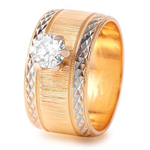 Natürlicher Diamant 0,5Karat 14ct Rose Gold Solitaire Engagement Ring für Frauen Solitaire Engagement Ring 14k