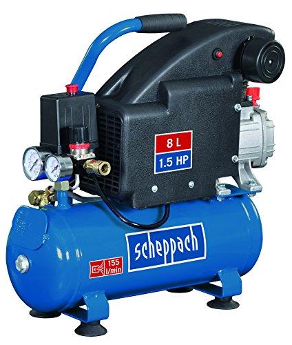 Scheppach Kompressor HC08, 230 V, 50 Hz, 1100 W, 1 Stück, blau / schwarz, 5906119901