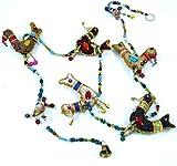 Guru-Shop Mobile, Stofftierkette aus Indien Vogel, 120x9x2,5 cm, Traumfänger & Mobiles