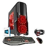 Fierce ULTRA SCHNELLE Zweikern Familie Gaming PC - Windows 10 - 3.9GHz AMD A-Series A4-6300 - Gaming, Büro, Familie PC - (WIFI, 16GB RAM, 1TB Festplatte, R7 Serie Grafik) - 221768
