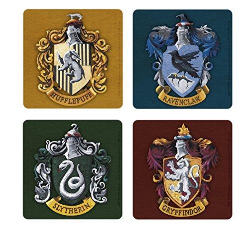 Harry Potter - Untersetzer 4er Set - Häuser -