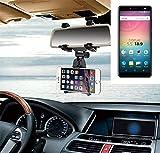 K-S-Trade Für Allview V3 Viper Smartphone Halterung Rückspiegel Halterung schwarz Auto Halterung für Allview V3 Viper Spiegel KFZ Halter