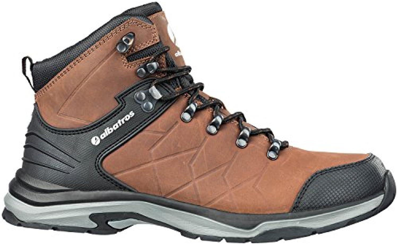 Albatros 677580 – 204 – 43 zapato de trabajo Ischgl – CTX Mid O2, negro/marrón, talla 43