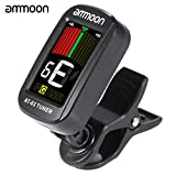 ammoon Clip-on Elektrische Tuner LCD-kleurenscherm 360 ° Draaibaar voor Gitaarbasviool Chromatische Ukelele Universeel Voortreffelijk Draagbaar