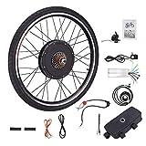 Sfeomi 48V 1000W 26'' Kit di Conversione Bici Elettrica Controllo Mozzo Motore Hub E-Bike Ruota Bicicletta Regolatore di velocità (Ruota Posteriore)
