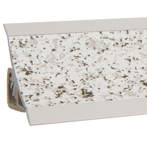 HOLZBRINK Küchenabschlussleiste Granit hell Küchenleiste PVC Wandabschlussleiste Arbeitsplatten...