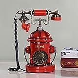Antiguo creativo retro teléfono fijo teléfono europea de la moda teléfono de su casa ( Estilo : Rotary Dial )