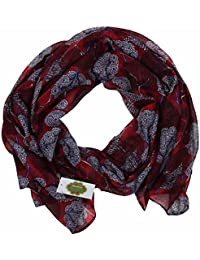 New with Tags Deco Trees Print Design Women's Scarves Large Scarf Shawl (Red)