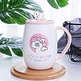 Taza de café Taza de dibujos animados de cerámica Taza de beber de unicornio Pareja...