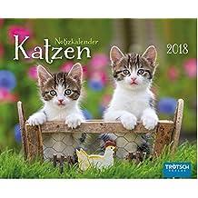 Notiz-Kalender Katzen 2018