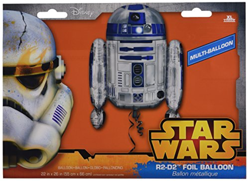 Amscan Anagram 3039901 - Folienballon Super Shape, Disney Star Wars, R2D2, 55 x 66 cm