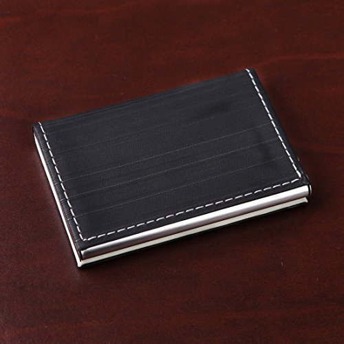 YDC05 Bester Visitenkarte-Halter-Leder-Karten-Kasten Ausgezeichneter Designer durch Y&G YDC0524-Schwarz, Beige