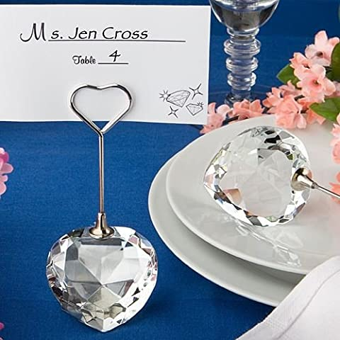 6 cuore di cristallo Nome design / Memo Luogo carte nota nozze titolari favori Regali - (confezione da 2) - Carta Regalo Della Santa Titolare