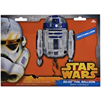 "Disney Star Wars R2 D2 globo de la hoja de helio Supershape 22 ""X 26"" 55cm X 66cm"
