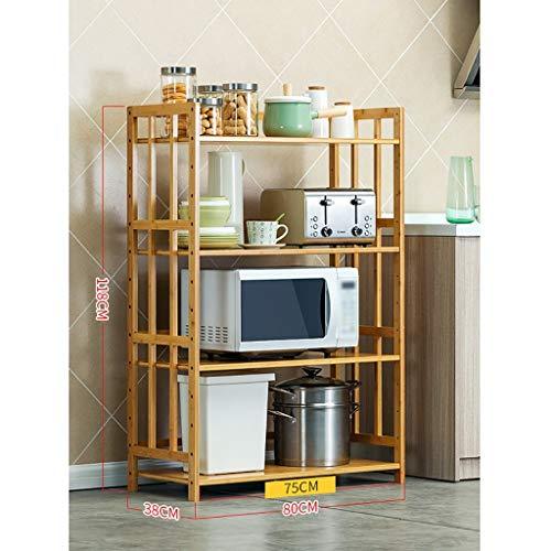 Yuang Küchenregal lagerung Topf Rack mikrowellenregal ofen utensilien bodenstehende 4-Tie