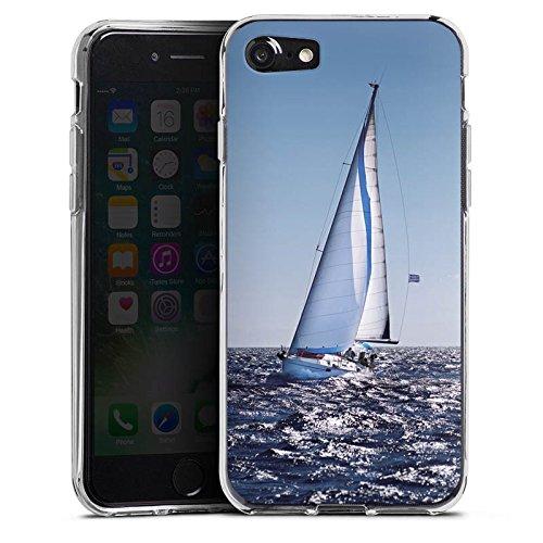 Apple iPhone X Silikon Hülle Case Schutzhülle Segeln Sailing Segelboot Silikon Case transparent