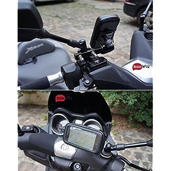 BRAINWIZZ® Support Métallique Fixation Moto/Scooter/Vélo avec étui Etanche pour iPhone XS Max